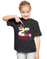 2ND GRADE CUTIE UNICORN  Youth T-Shirt lifestyle-youth-tshirt-front-2