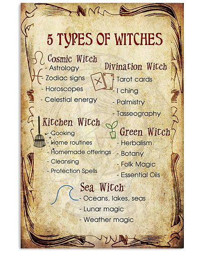 5 TYPES OF WITCHES