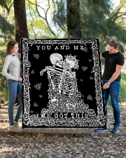 """YOU AND ME Quilt 60""""x70"""" - Twin aos-quilt-60x70-lifestyle-front-03"""