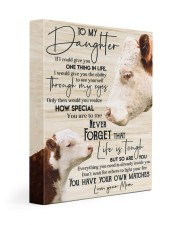 To my daughter 11x14 Gallery Wrapped Canvas Prints front