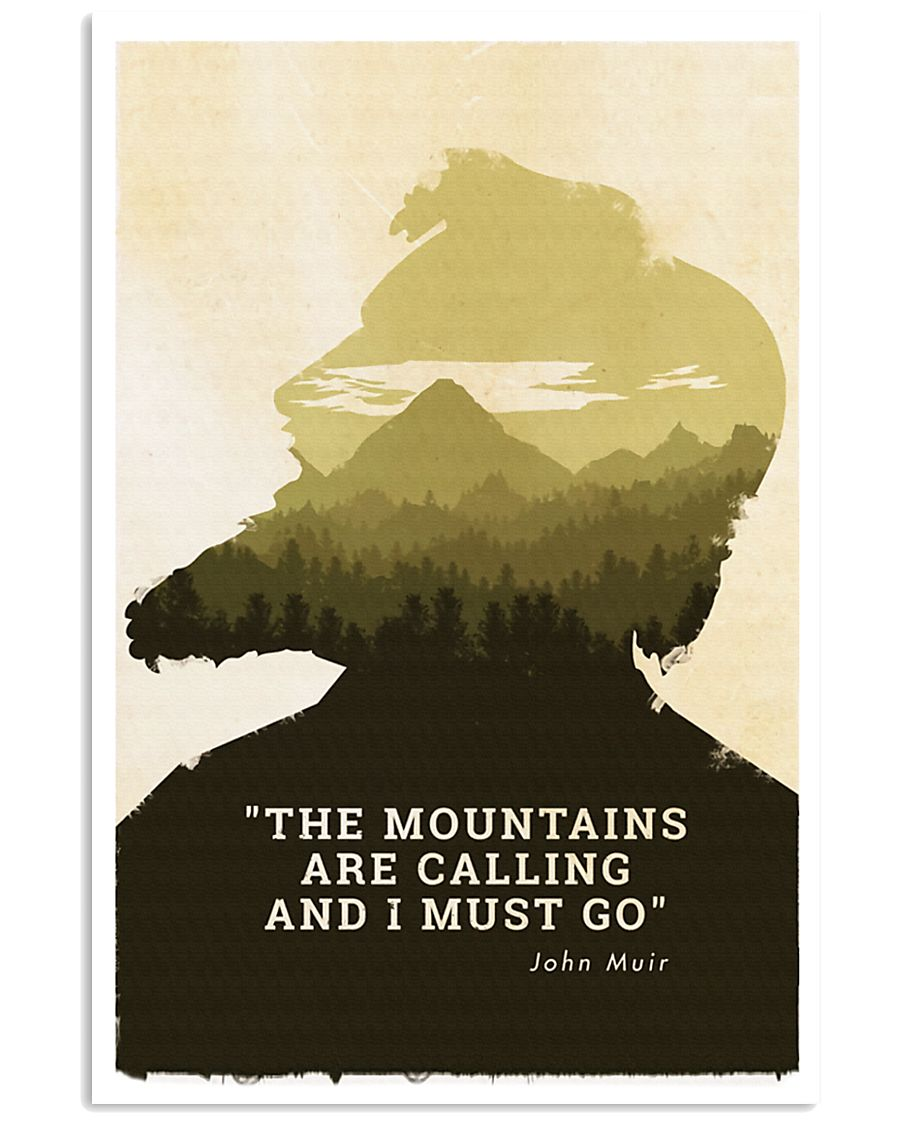 THE MOUNTAINS ARE CALLING 24x36 Poster