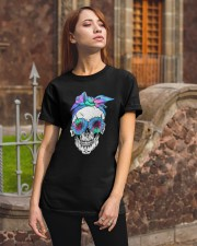 FLOWER BANDANA SKULL Classic T-Shirt apparel-classic-tshirt-lifestyle-06