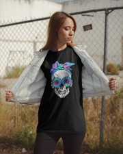 FLOWER BANDANA SKULL Classic T-Shirt apparel-classic-tshirt-lifestyle-07