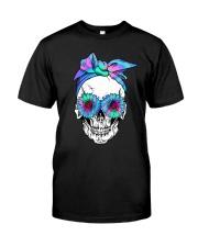 FLOWER BANDANA SKULL Classic T-Shirt front