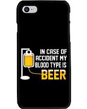 BEER BLOOD TYPE LONG SLEEVE TEE Phone Case thumbnail