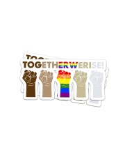 LOVE IS LOVE 6 Sticker - 2 pack (Horizontal) front