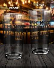 I'M NOT DRUNK 16oz Pint Glass aos-16oz-pint-glass-lifestyle-front-14