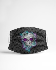 Skull - Floral - 1 Cloth face mask aos-face-mask-lifestyle-22