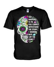 STORM SKULL T-SHIRT V-Neck T-Shirt thumbnail