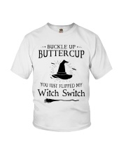 BUCKLE UP BUTTERCUP Youth T-Shirt front