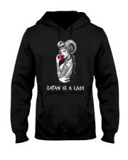 SATAN IS A LADY Hooded Sweatshirt thumbnail