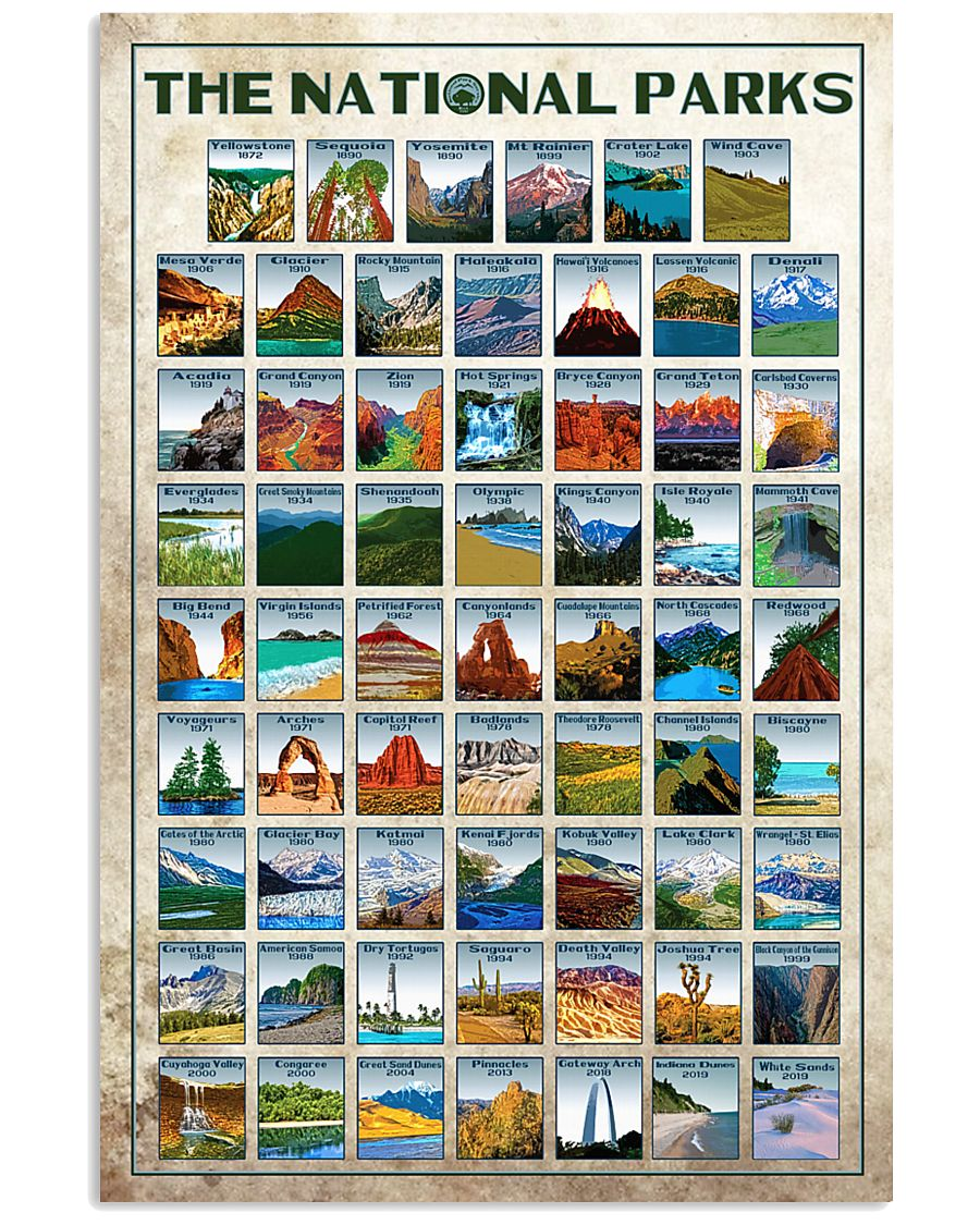 Limited edition - 62 NPS 24x36 Poster