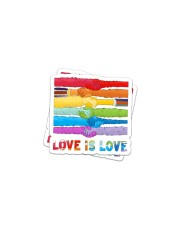 LOVE IS LOVE- 8 Sticker - 2 pack (Horizontal) front