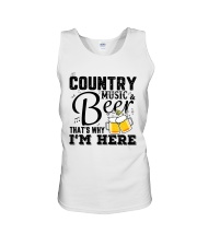 COUNTRY MUSIC BEER Unisex Tank front
