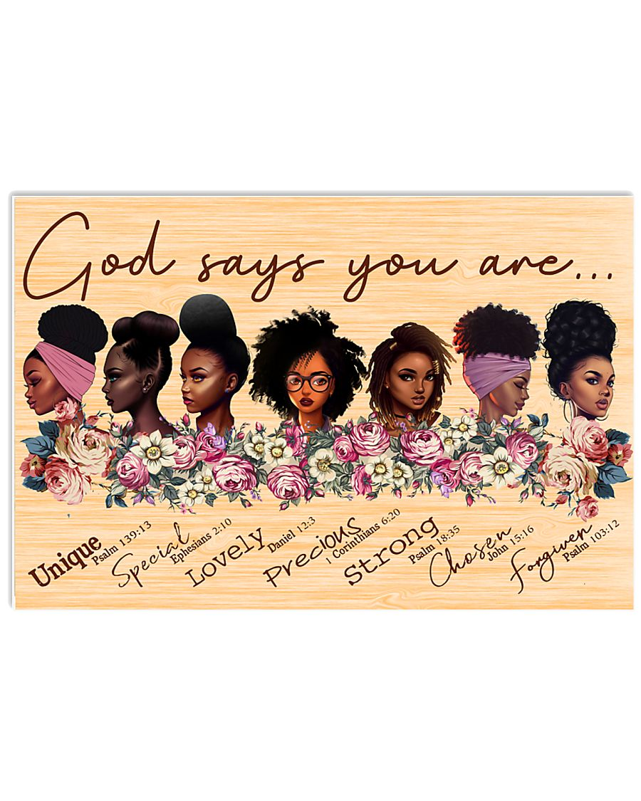GOD SAYS YOU ARE 24x16 Poster