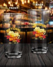 NATIONAL BEER DAY 16oz Pint Glass aos-16oz-pint-glass-lifestyle-front-14