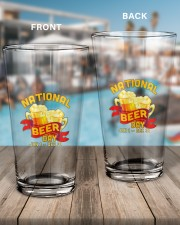 NATIONAL BEER DAY 16oz Pint Glass aos-16oz-pint-glass-lifestyle-front-15