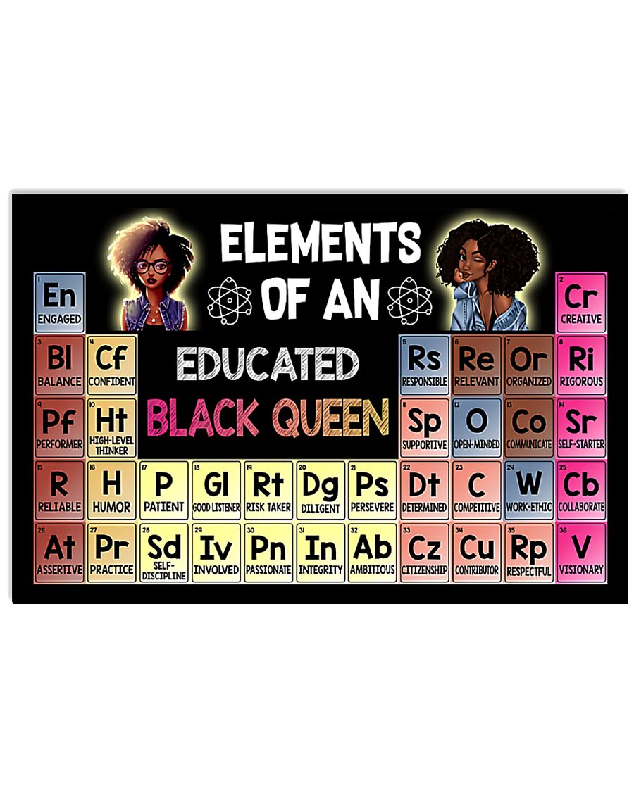 ELEMENTS OF AN EDUCATED BLACK QUEEN 24x16 Poster