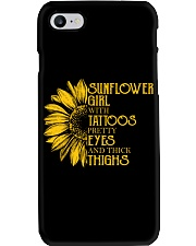 SUNFLOWER GIRL WITH TATTOOS Phone Case thumbnail