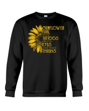 SUNFLOWER GIRL WITH TATTOOS Crewneck Sweatshirt thumbnail