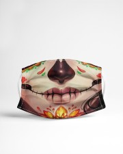 Day of the dead 1 Cloth face mask aos-face-mask-lifestyle-22