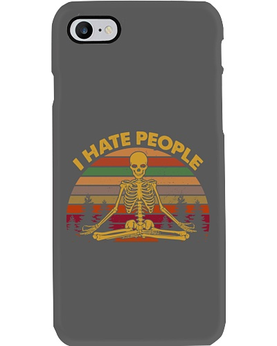 SKULL I HATE PEOPLE T-SHIRT