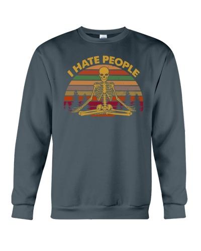 SKULL I HATE PEOPLE T-SHIRT
