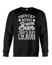 COUNTRY MUSIC AND BEER Crewneck Sweatshirt thumbnail