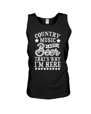 COUNTRY MUSIC AND BEER Unisex Tank front