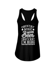 COUNTRY MUSIC AND BEER Ladies Flowy Tank thumbnail