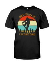 BIGFOOT DONT FOLLOW ME T-SHIRT Classic T-Shirt front