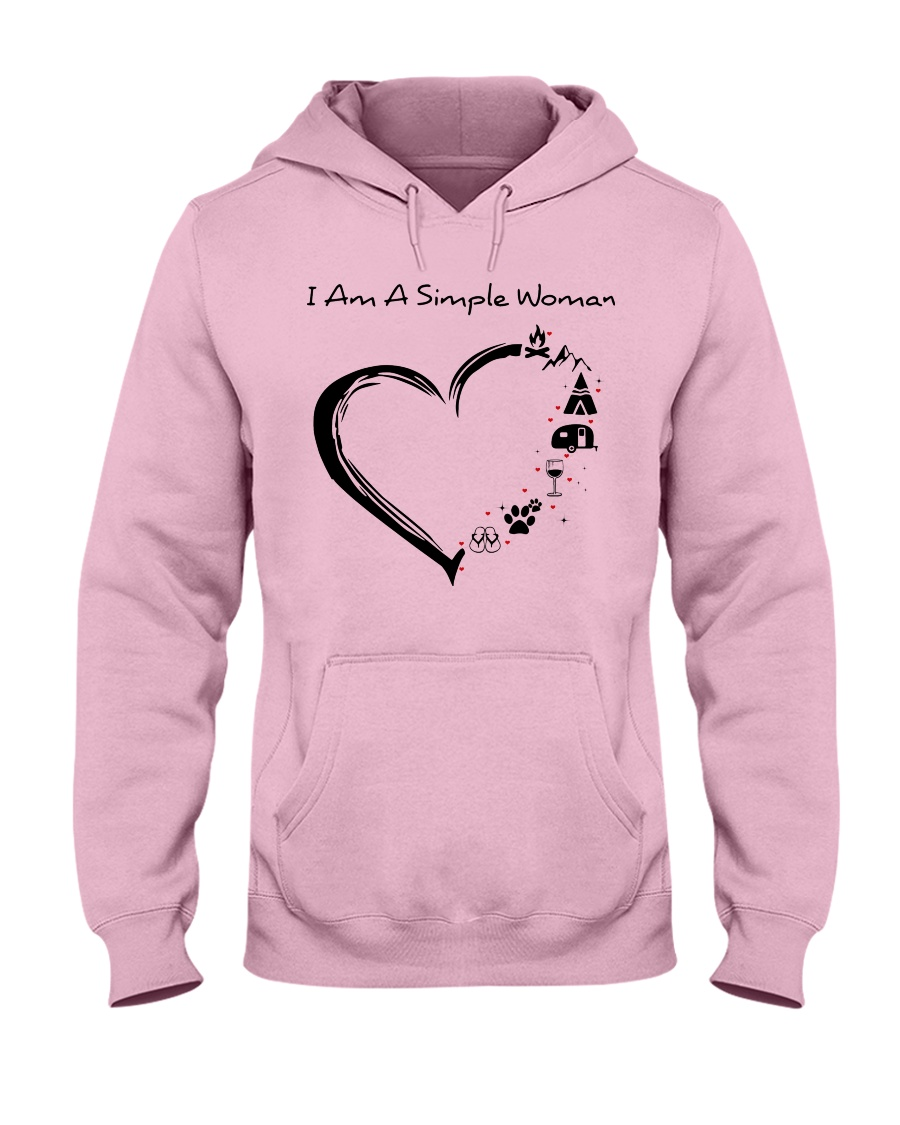 I AM A SIMPLE WOMAN Hooded Sweatshirt