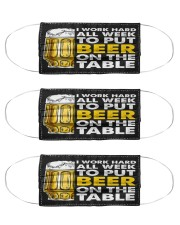 TO PUT BEER ON THE TABLE Cloth Face Mask - 3 Pack front