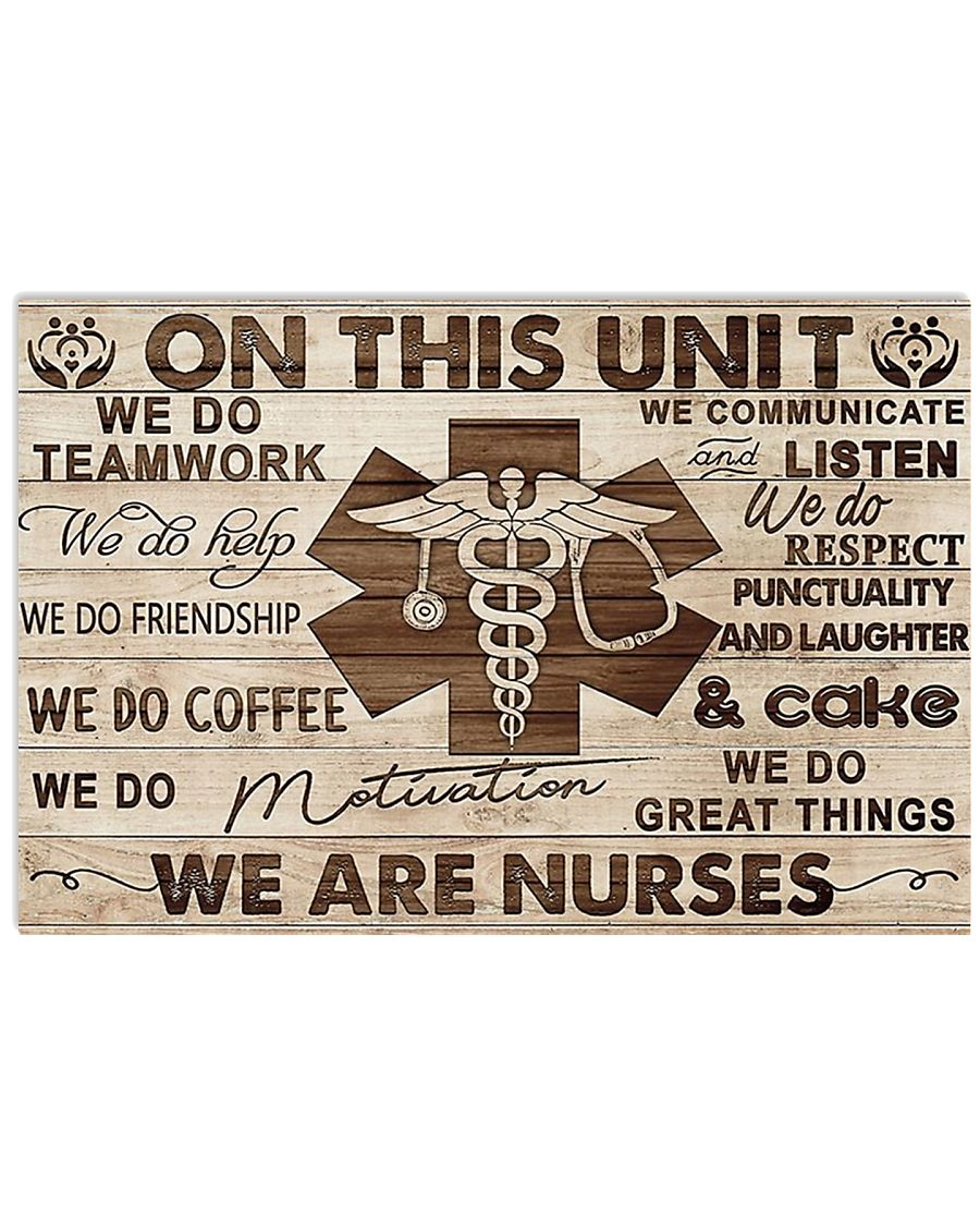 WE ARE NURSE POSTER 17x11 Poster