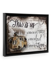 This is Us 14x11 Black Floating Framed Canvas Prints front