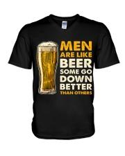 MEN ARE LIKE BEER  V-Neck T-Shirt thumbnail