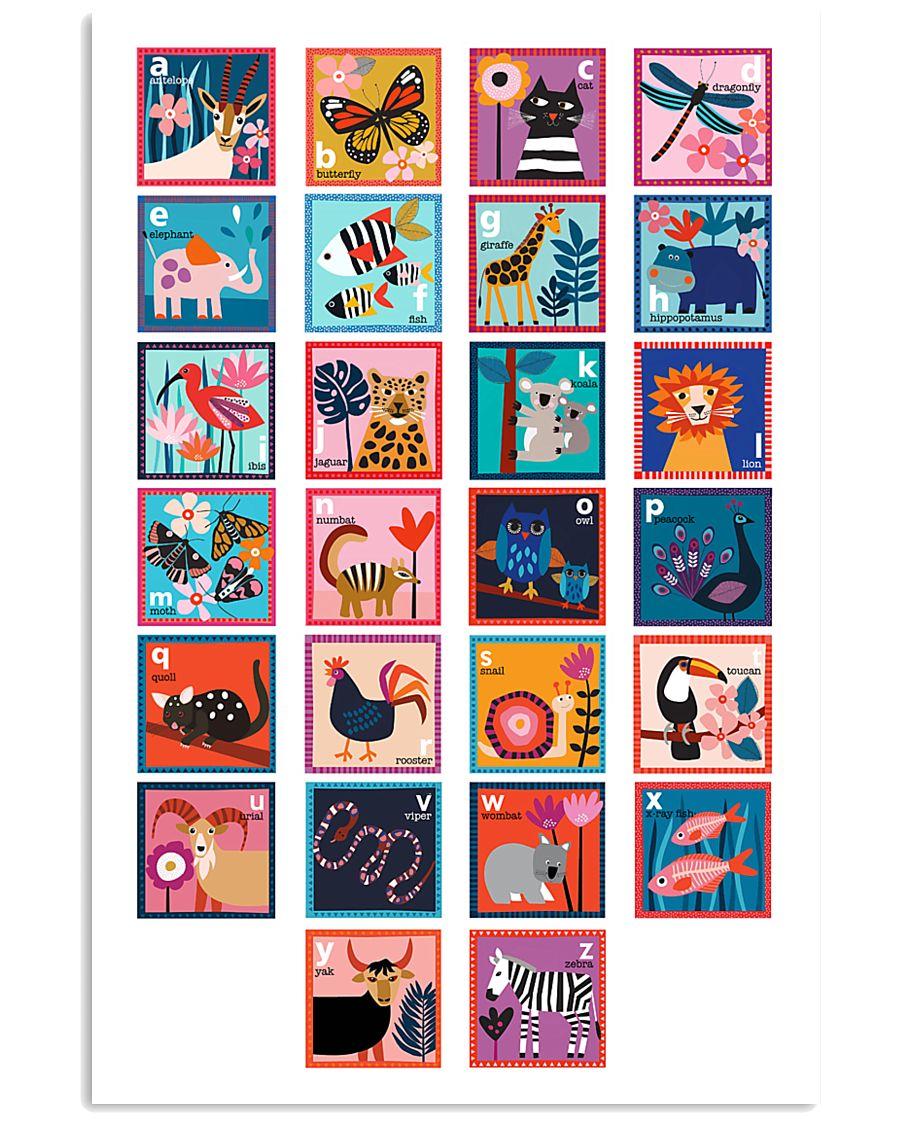 ALPHABET OF ANIMALS 11x17 Poster