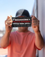 Warning Mouth Operates Faster Than Brain  Cloth Face Mask - 3 Pack aos-face-mask-lifestyle-05
