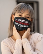 Warning Mouth Operates Faster Than Brain  Cloth Face Mask - 3 Pack aos-face-mask-lifestyle-17