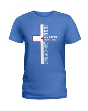 Jesus saves - Nurse Ladies T-Shirt front