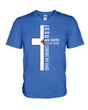 Jesus saves - Nurse V-Neck T-Shirt thumbnail