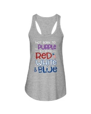 BORN TO THE RED WHITE N BLUE Ladies Flowy Tank front