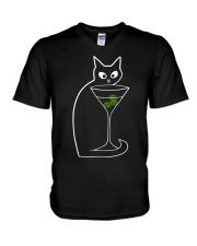 VODKA AND CAT V-Neck T-Shirt thumbnail