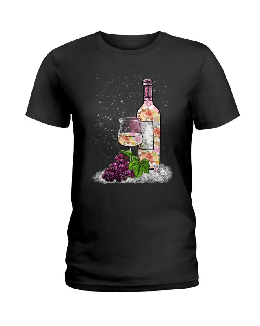 WINE - FLOWER Ladies T-Shirt