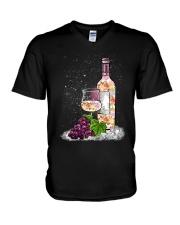 WINE - FLOWER V-Neck T-Shirt thumbnail