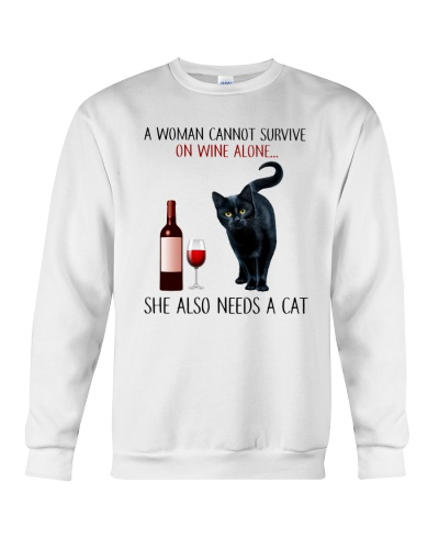 CANNOT SURVIVE ON WINE ALONE ALSO NEEDS A CAT