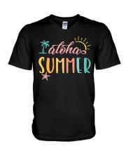 ALOHA SUMMER V-Neck T-Shirt front