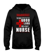 PROTECTED BY A NURSE Hooded Sweatshirt thumbnail