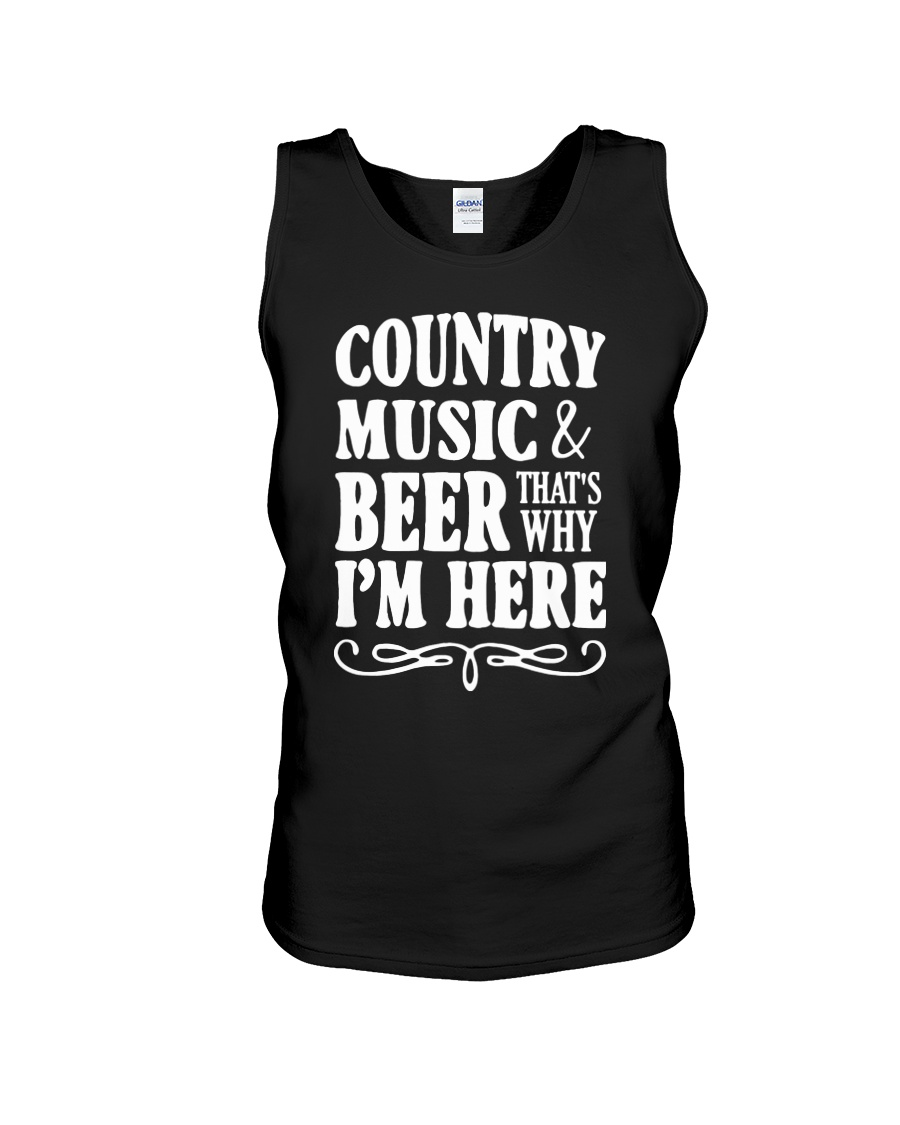 COUNTRY MUSIC AND BEER Unisex Tank