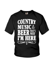 COUNTRY MUSIC AND BEER Youth T-Shirt thumbnail